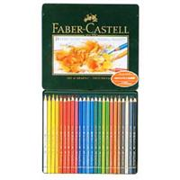 Faber-Castell ポリクロモス色鉛筆 24色セット (缶入)