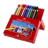 Faber-Castell Red-range ジャンボグリップ色鉛筆 12+マーカー10 ギフトセット