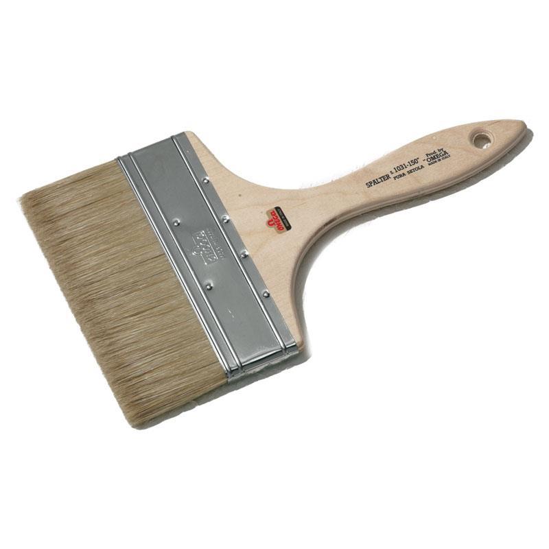 オメガ 刷毛 ペイントブラシ 1031-180ミリ フラット (平型)   ゆめ画材