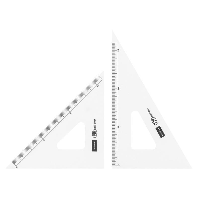 三角定規 18cm×2mm 目盛り付き