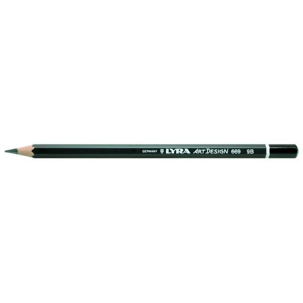 Lyra リラ レンブラント アートデザイン グラファイト 9B (12本セット) L1110109