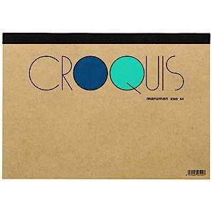マルマン CROQUIS クロッキーパッド A4(210×297mm) ※白クロッキー紙