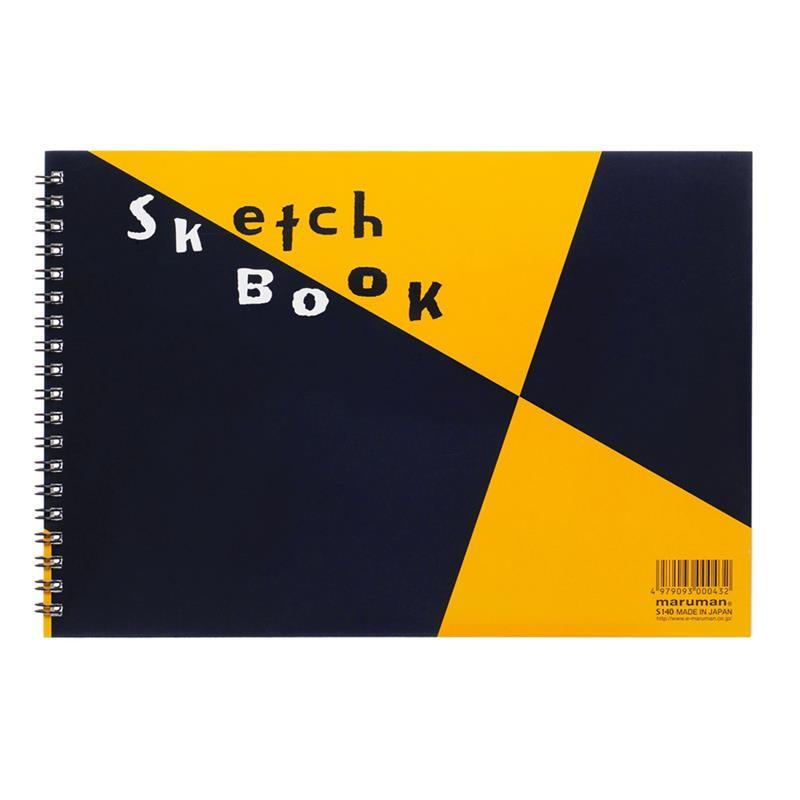 マルマン 図案スケッチブック ツインワイヤ B5サイズ 24枚 画用紙 並口 126.5g/m2