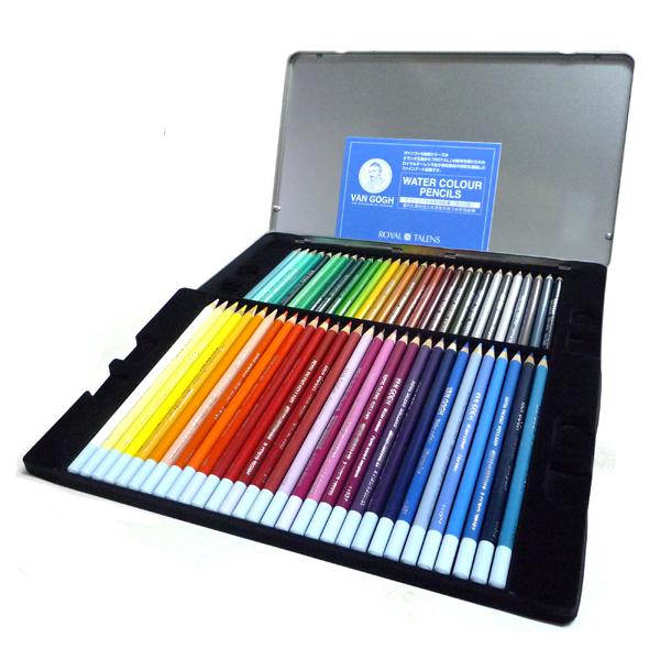 ヴァンゴッホ 水彩色鉛筆 60色セット (メタルケース入り) 【芸術の秋♪早期割引 画材セットセール対象商品】