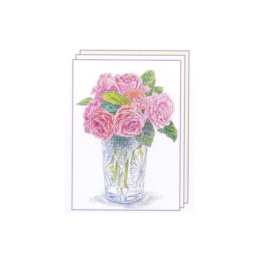 塗り絵 塗り絵物語 花と花びん編 バラ ゆめ画材